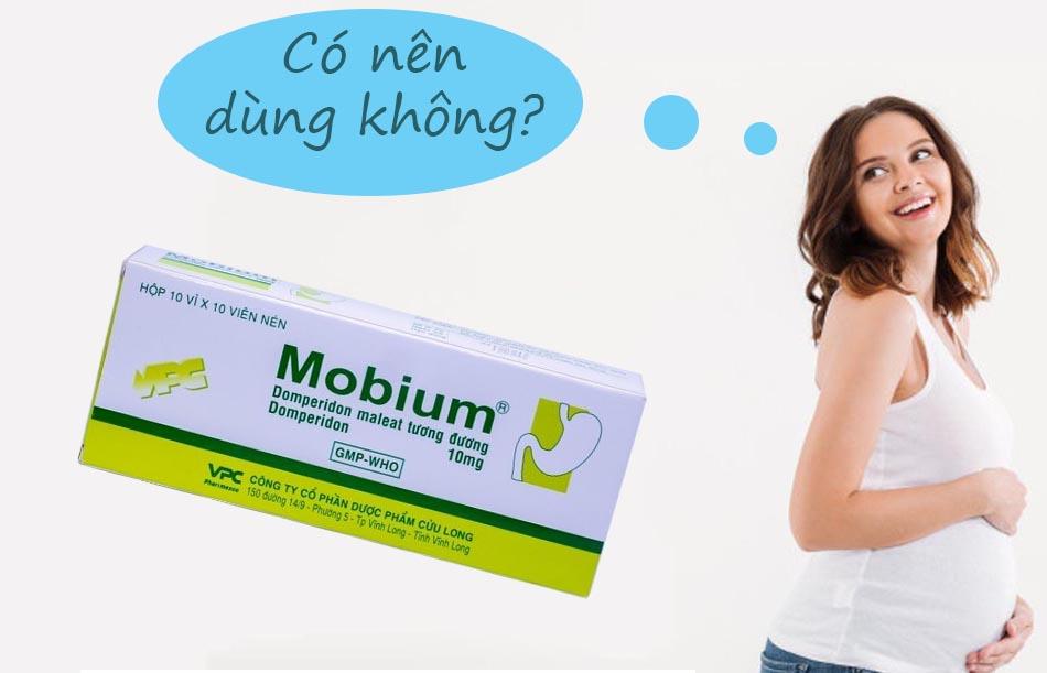 Phụ nữ có thai không nên dùng Mobium