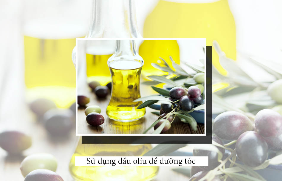 Sử dụng dầu oliu để dưỡng tóc