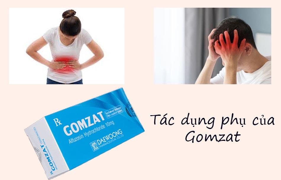 Một số tác dụng không mong muốn của Gomzat