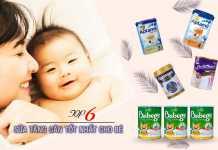 Top 6 sữa tăng cân cho bé