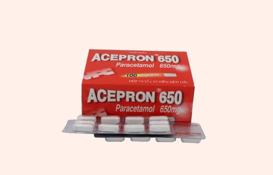 Viên nén Acepron 650mg
