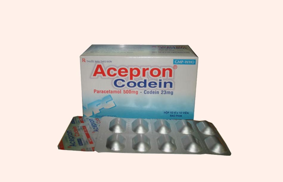 Viên nén bao phim Acepron - Codein