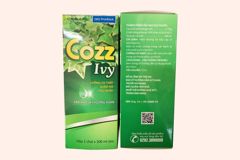 Hình ảnh hộp thuốc ho Cozz Ivy