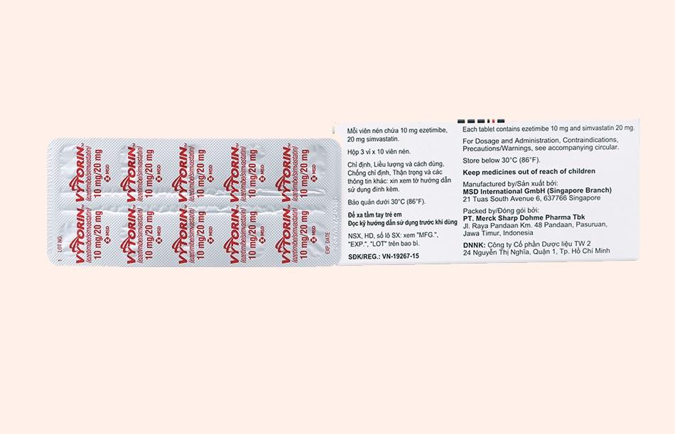 Bao bì thuốc Vytorin