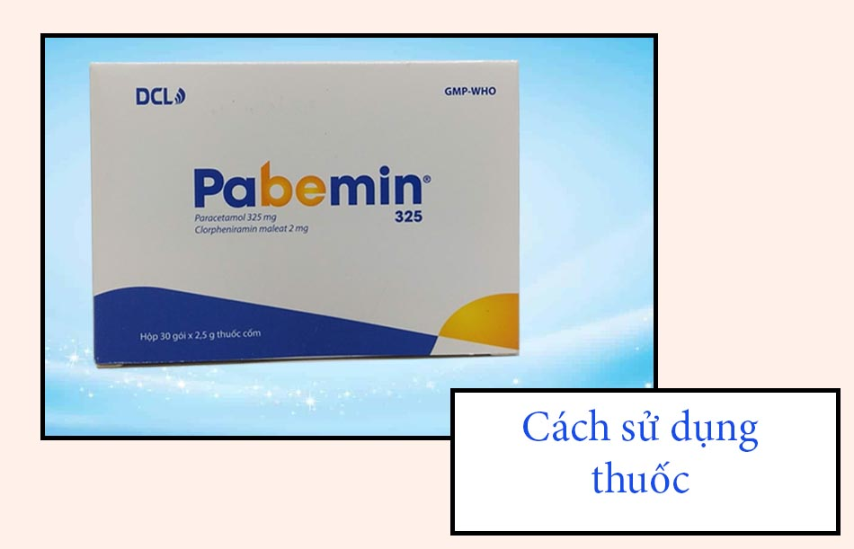 Cách sử dụng thuốc Pabemin