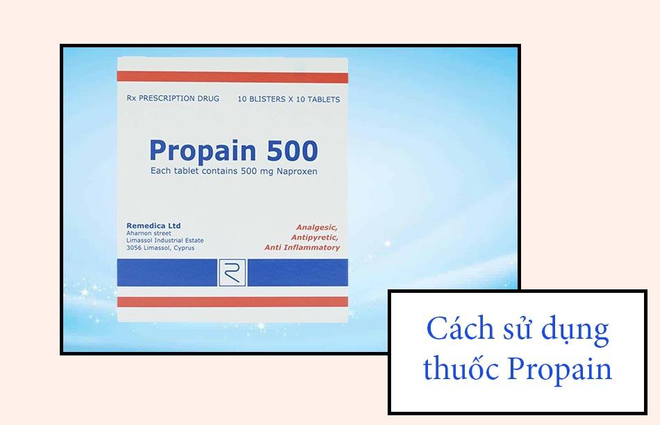 Cách sử dụng thuốc Propain