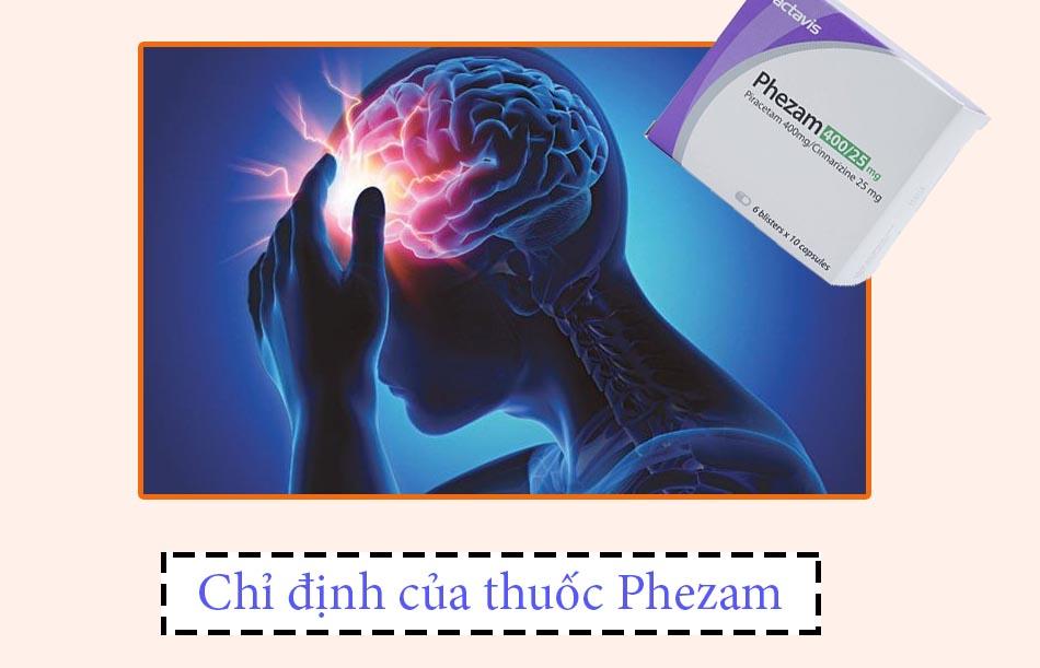 Chỉ định của thuốc Phezam