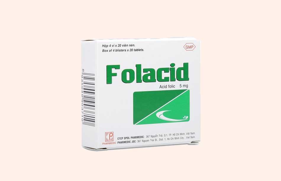 Hình ảnh hộp thuốc Folacid