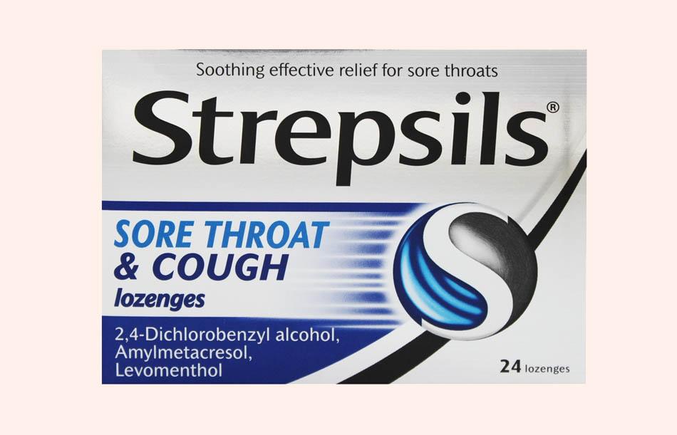 Viên ngậm Strepsils Sore Throat and Cough Lozenges