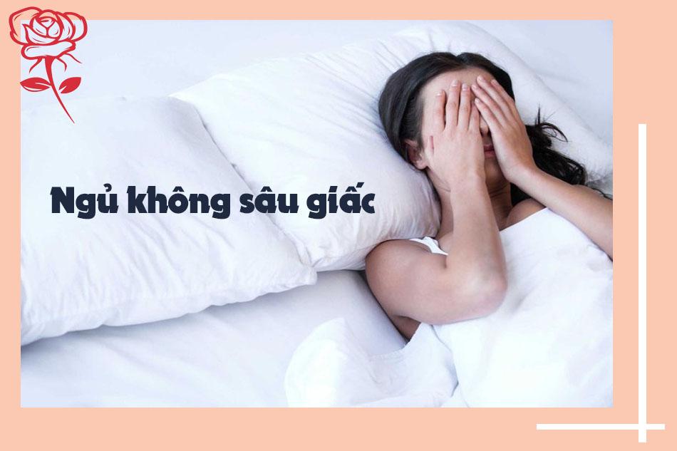 ngủ không sâu giấc