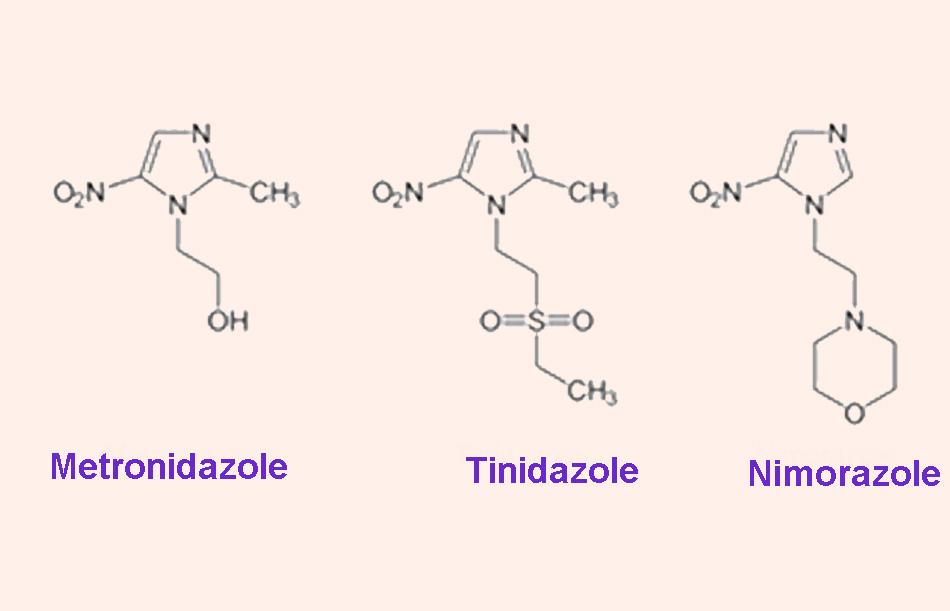 Cấu trúc của một số kháng sinh nhóm 5-nitroimidazole