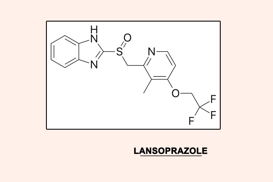 Cấu trúc hóa học của Lansoprazole