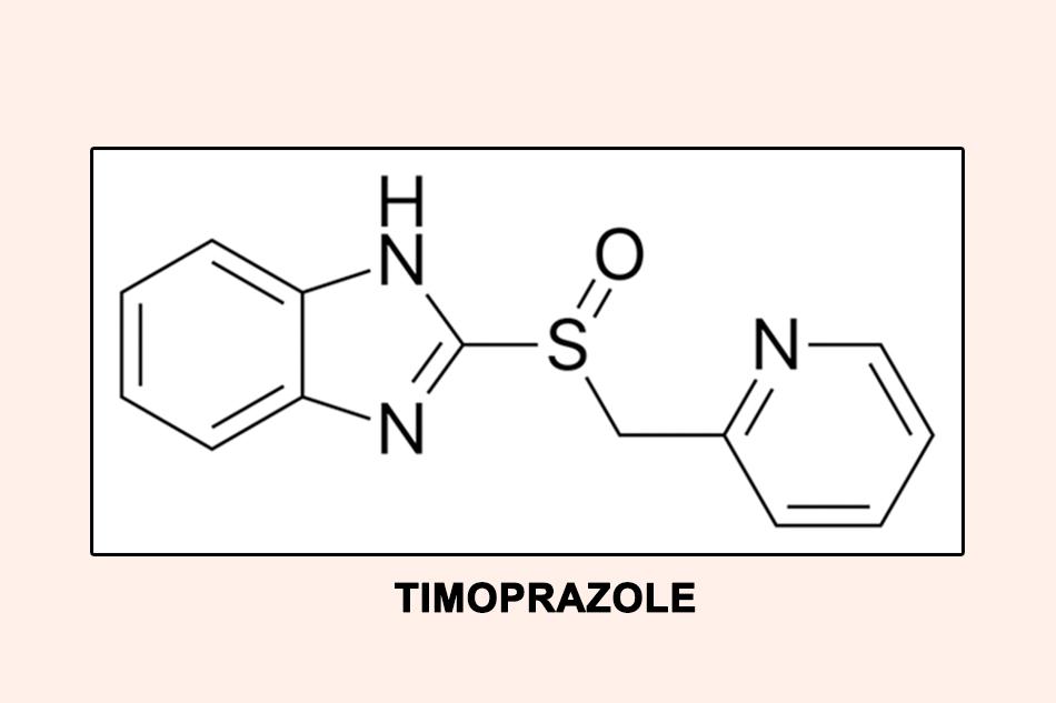 Cấu trúc hóa học của Timoprazole