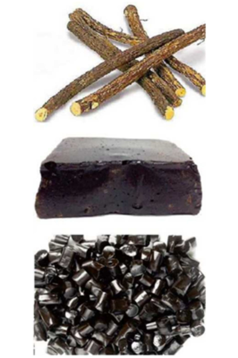 FIGURE 2.6 Various forms of liquorice that can be found in the market