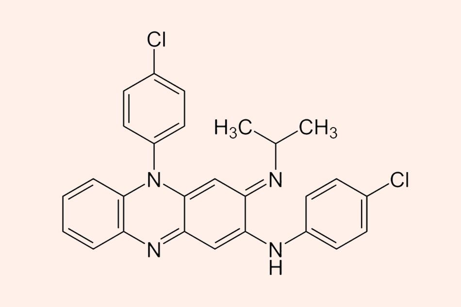 Cấu trúc hóa học của Clofazimine
