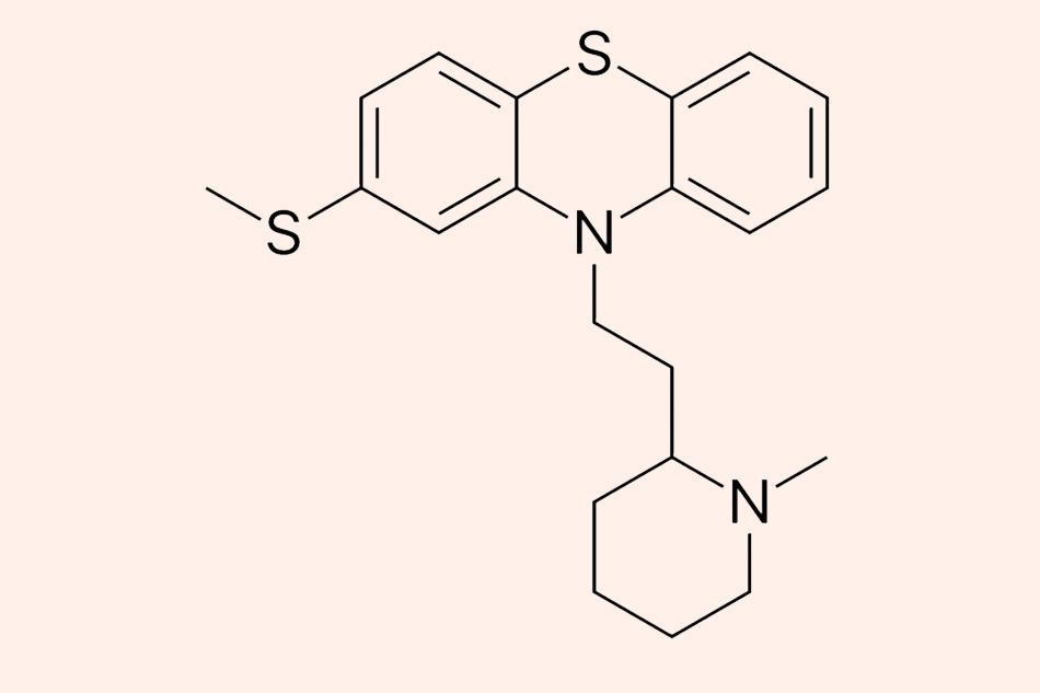 Cấu trúc hóa học của Thioridazine