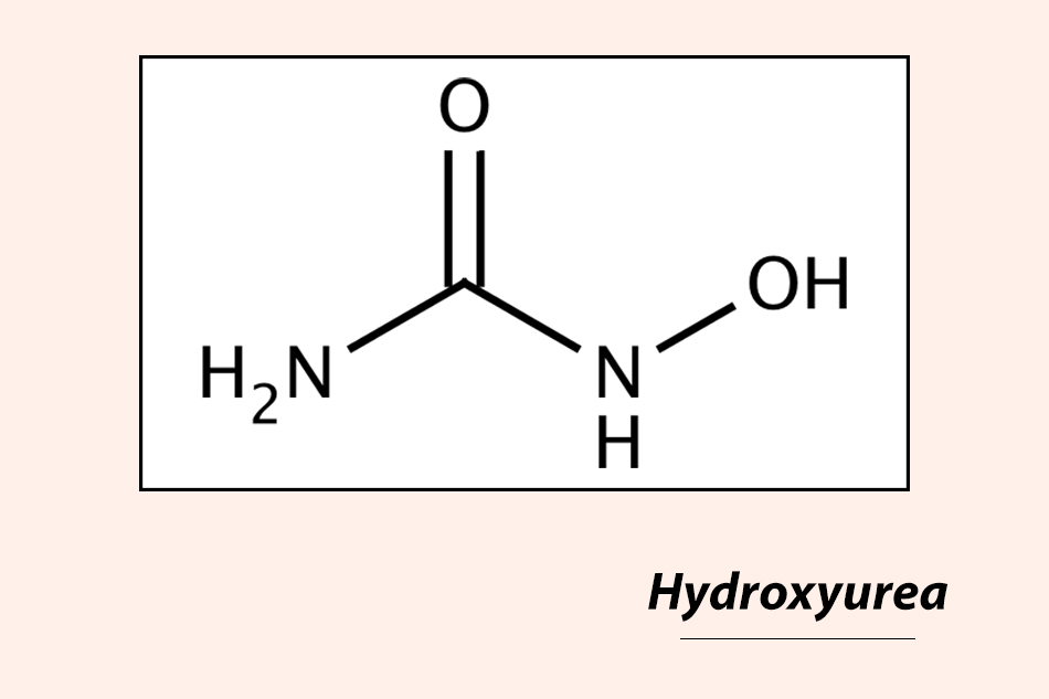 Hình ảnh: Cấu trúc hóa học của Hydroxyurea