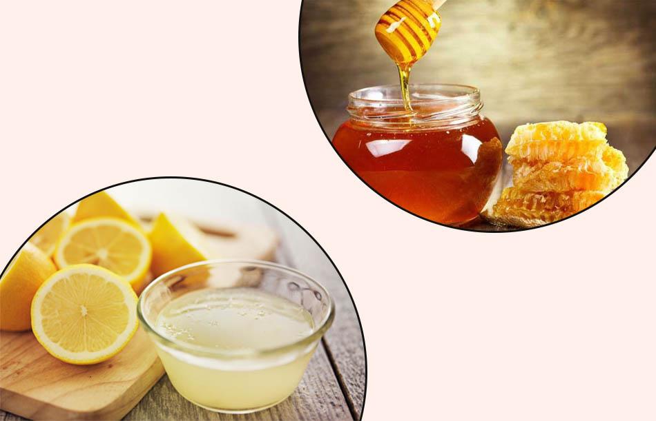 Mật ong và nước cốt chanh giúp điều trị thâm mụn hiệu quả
