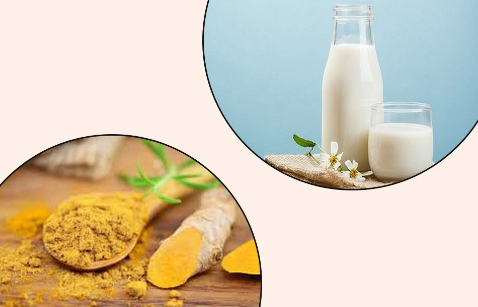 Điều trị thâm mụn bằng sữa tươi không đường và tinh bột nghệ