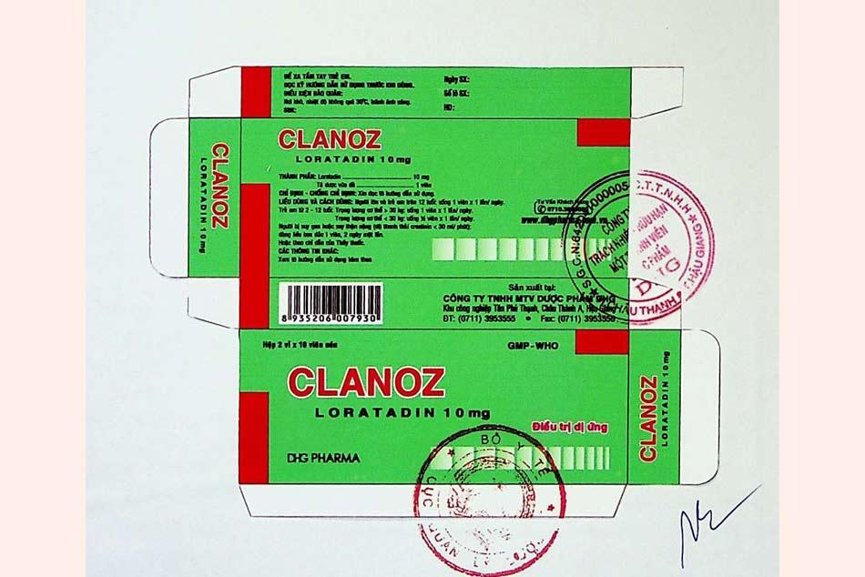 Nhãn hộp thuốc được đăng ký