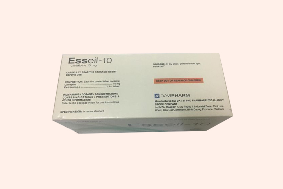 Mặt sau hộp thuốc Esseil-10