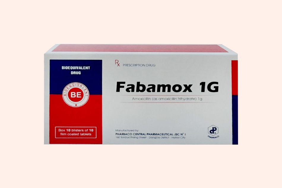 Hộp thuốc Fabamox 1g