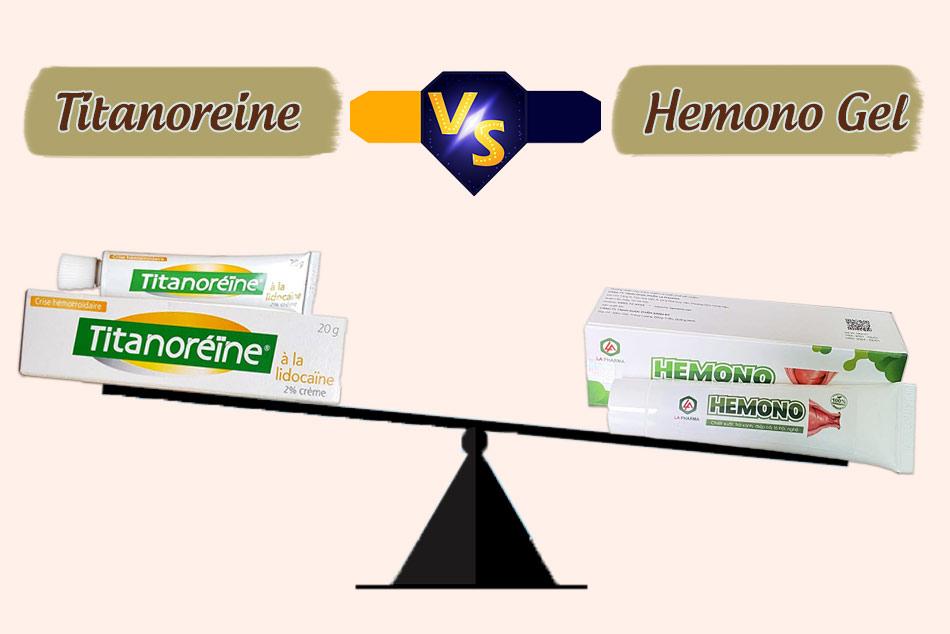 So sánh Hemono Gel với Titanoreine