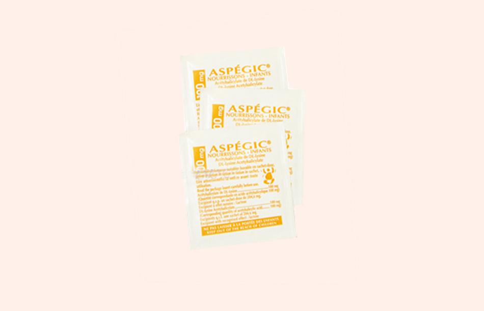 Hình ảnh gói thuốc Aspegic