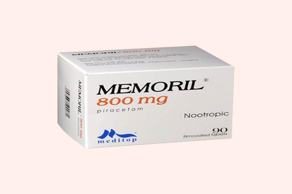 Thuốc Memoril bào chế dạng viên nén bao phim