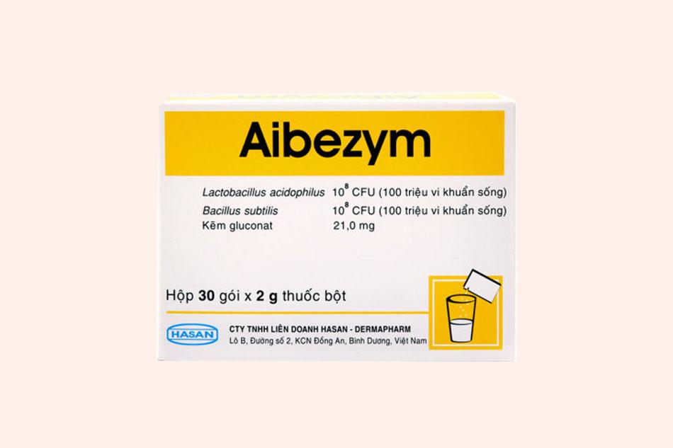 Hình ảnh mặt trước của hộp thuốc Aibezym