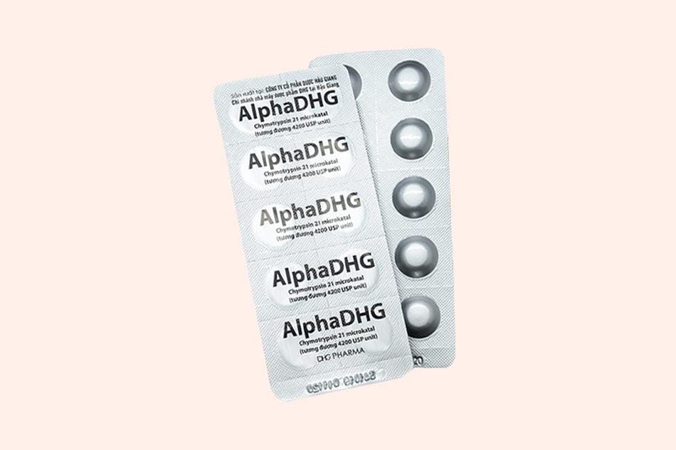 Hình ảnh của vỉ thuốc AlphaDHG