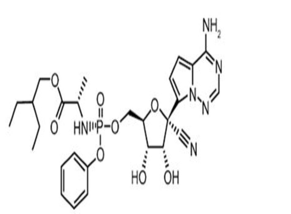 (hình từ Lamb, Y.N. Remdesivir: First Approval. Drugs 80, 1355–1363 (2020))