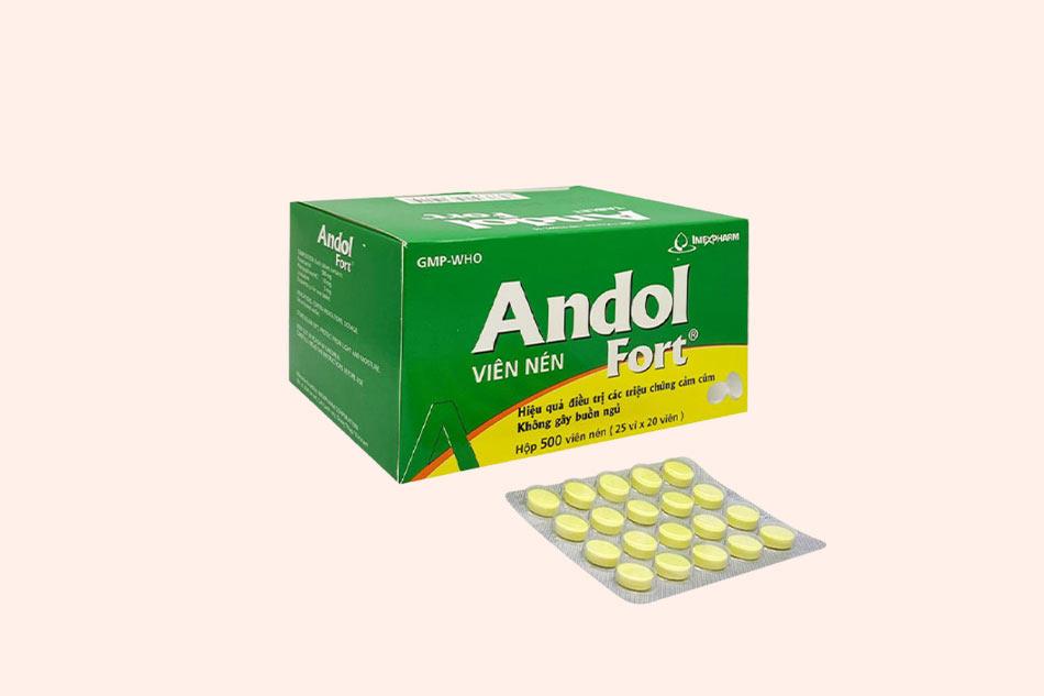 Hình ảnh hộp và vỉ thuốc Andol Fort