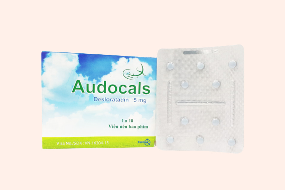 Hình ảnh vỉ và hộp thuốc Audocals 5mg