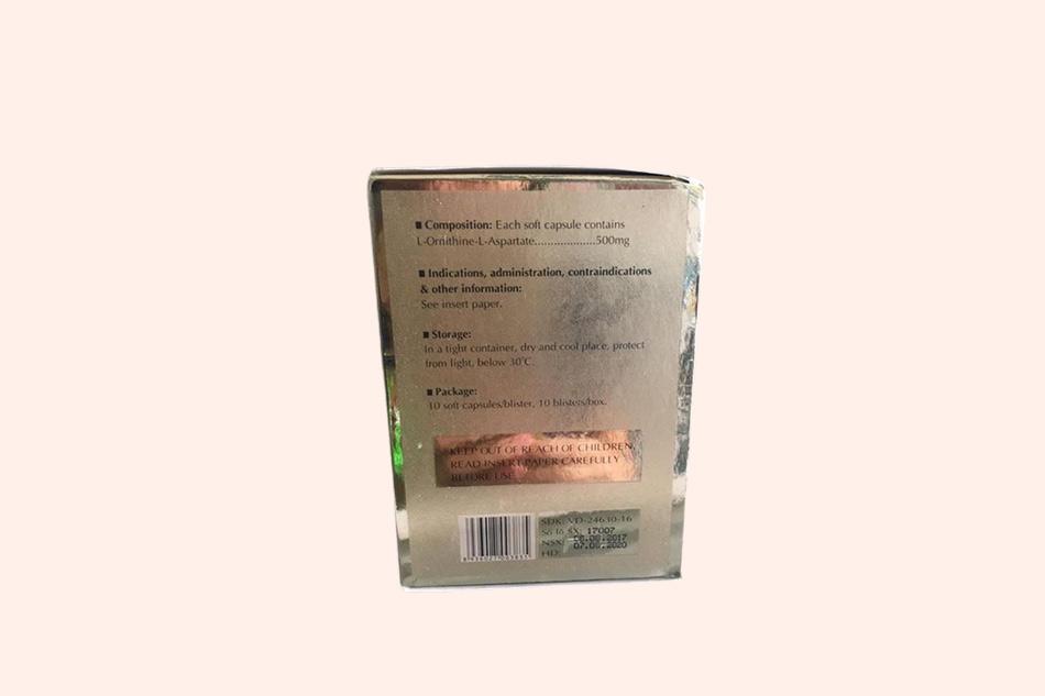 Hình ảnh của mặt bên hộp thuốc Gastalo