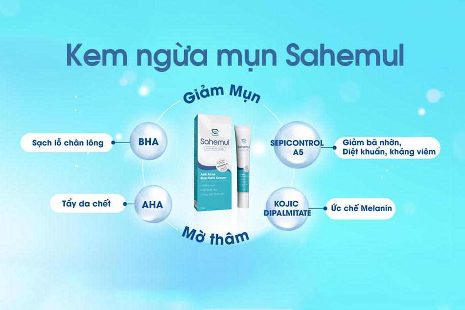 Cơ chế tác dụng của các thành phần trong kem ngứa mụn Sahemul