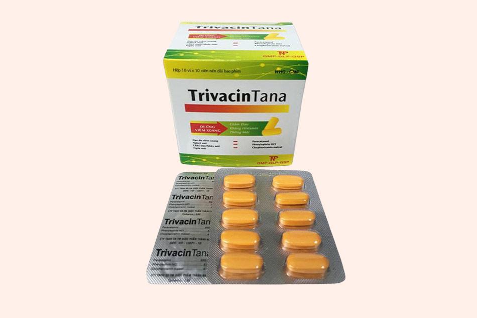 Hình ảnh của hộp và vỉ thuốc TrivacinTana