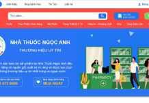 Website của nhà thuốc Ngọc Anh