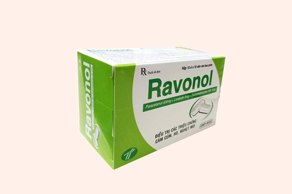 Hình ảnh của hộp thuốc Ravonol